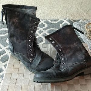 Roxy's distressed combat boots.